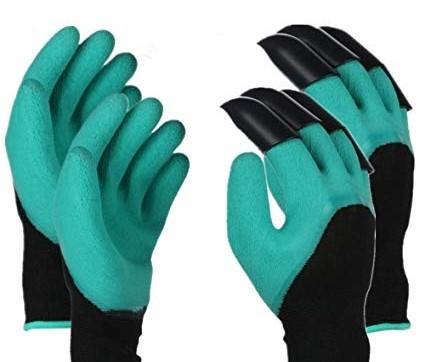 Digging claw gardening gloves
