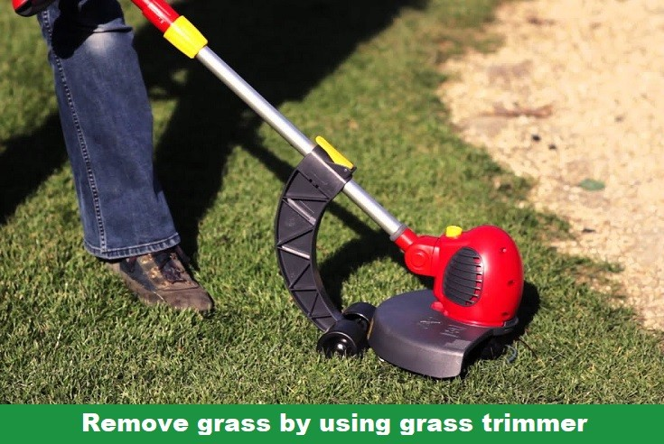 how to get rid of grass by using grass trimmer