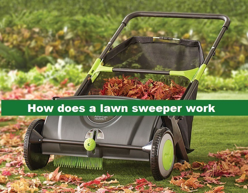 How does a lawn sweeper work