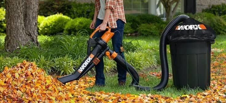 How to use a leaf vacuum mulcher