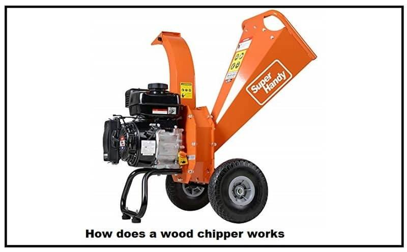 How does a wood chipper works